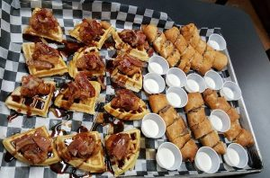 Just-created appetizers are part of the $10 spectator fee. Photo by Laurie Death