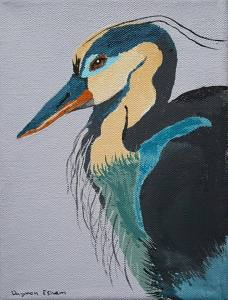 Heron by Daymon Esham, 5th Grader at Ocracoke School