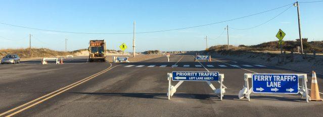 Priority lane at Ocracoke