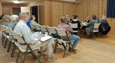 Ocracoke Occupancy Tax Board meets with the Hyde County the Passenger Ferry / Tram planning group. Photo: P. Vankevich