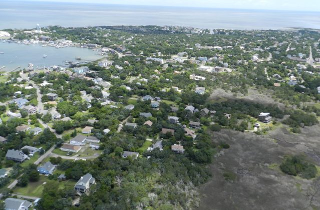 Ocracoke Island, NC, from above
