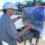 Artist Dan Nelson Paints Village Scene-2