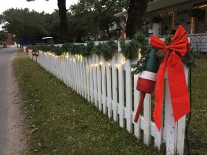 Ocracoke islanders are decking their homes for the holidays. Photo: C. Leinbach