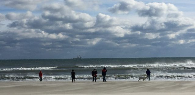 The wintry Ocracoke beach on New Year's Day 2018. Photo: C. Leinbach