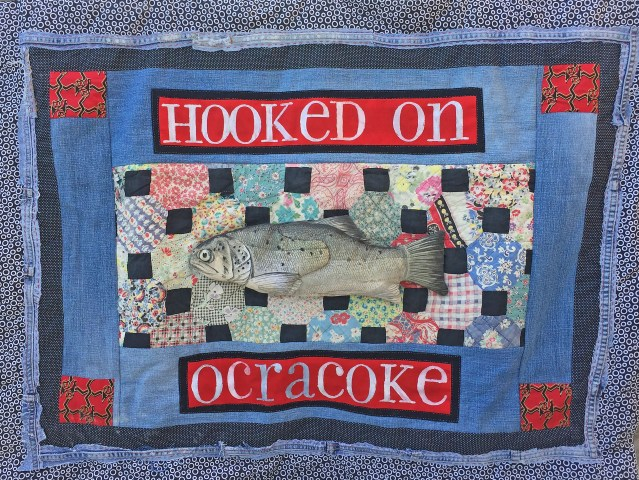 This quilted wall hanging by Susan Dodd will be one of the auction items at the Firemen's Ball Saturday evening, May 26, 2018, in the Community Center.