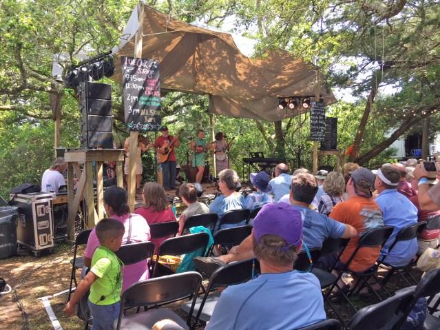 The 2018 Ocrafolk Festival's Live Oak Stage on Ocracoke, N.C. Photo: C. Leinbach