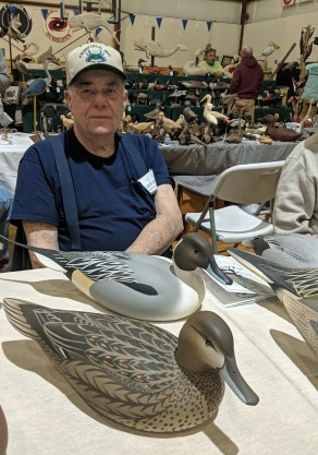 "Oliver ""Tuts"" Lawson at the Ocracoke Waterfowl Festival 2019. Photo: Peter Vankevich"