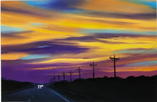'Highway 12' is one of many stunning paintings of Ocracoke the late Douglas Hoover created in his life.