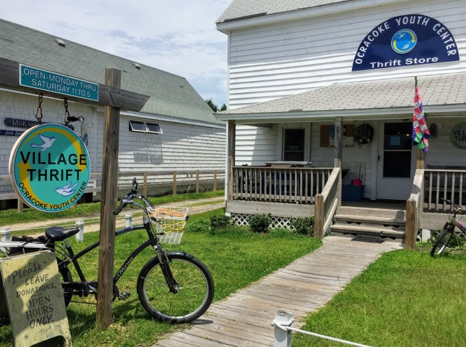 The Village Thrift in Ocracoke, NC,  will close sometime in September. Photo: C. Leinbach