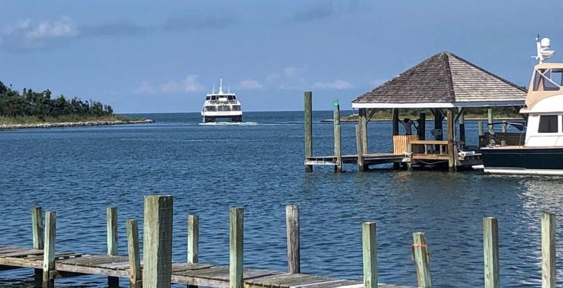 Passenger ferry at Ocracoke 2020