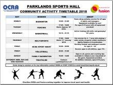 Parklands timetable Jan2018