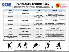 Parklands timetable Jan2018