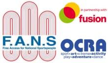 Image: FANS, Fusion, OCRA logo