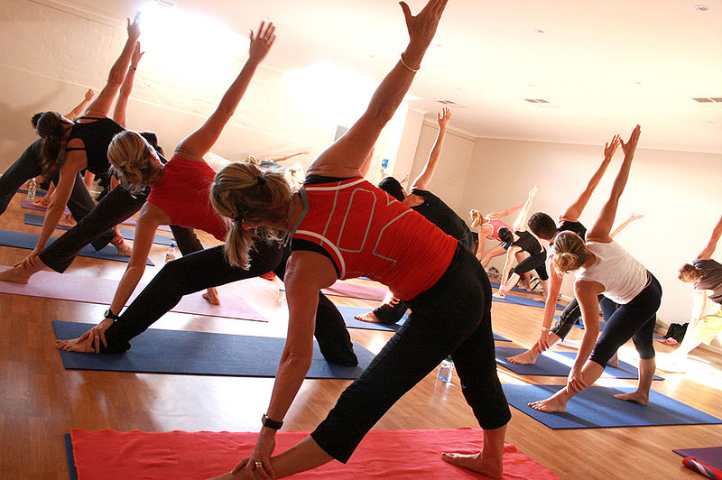 Image: Yoga at a gym