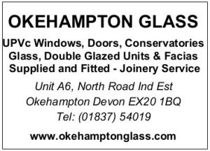 Okehampton Glass sponsorship ad
