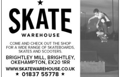 Image: Skate Warehouse sponsorship ad