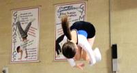 Image: trampolining somersault