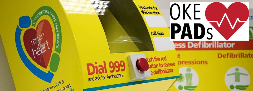 Image: oke PADs defibrillator poster