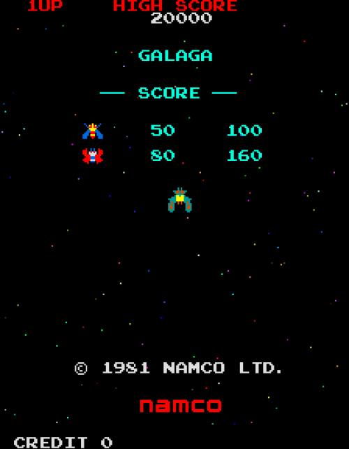 Game Galaga Arcade 1981 Namco  OC ReMix
