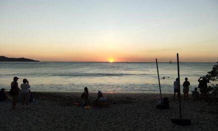 Sunset over the Beach!