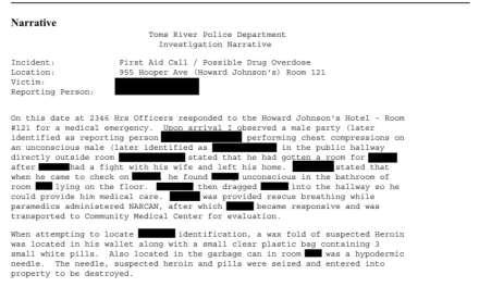 TR: Overdose Reports (Last Week)