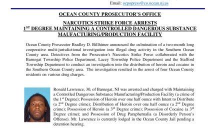 OCPO: Narcotics Strike Force Arrests