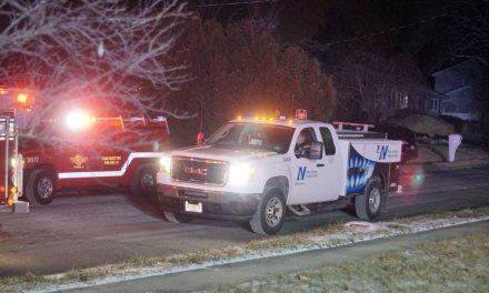 MANCHESTER: Gas Line Struck