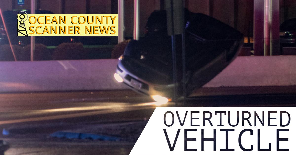 Pine Beach: Overturned Vehicle