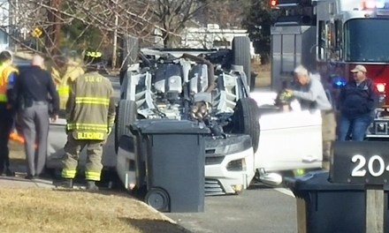 STAFFORD: Overturned Vehicle On Nautilus Drive In Manahawkin