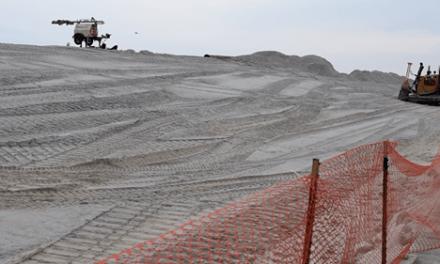 Massive Dunes Begin to Rise Over Lavallette Boardwalk, Beach