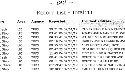 TOMS RIVER: DWI/DUI Arrests for February 2019.