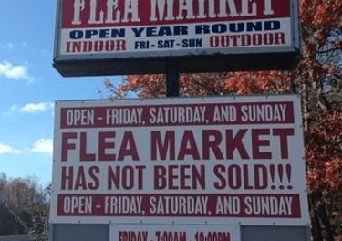 LAKEWOOD: Flea Market Followup