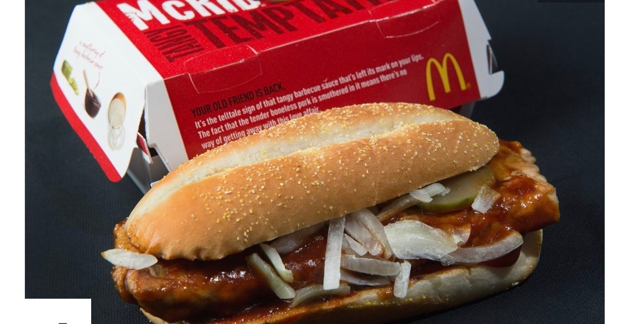 McDonald's McRib to Return for a Limited Tine!