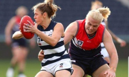 Trans Athlete Hannah Mouncey towers over her opponents