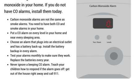 CO Alarm Safety- STAY ALIVE!