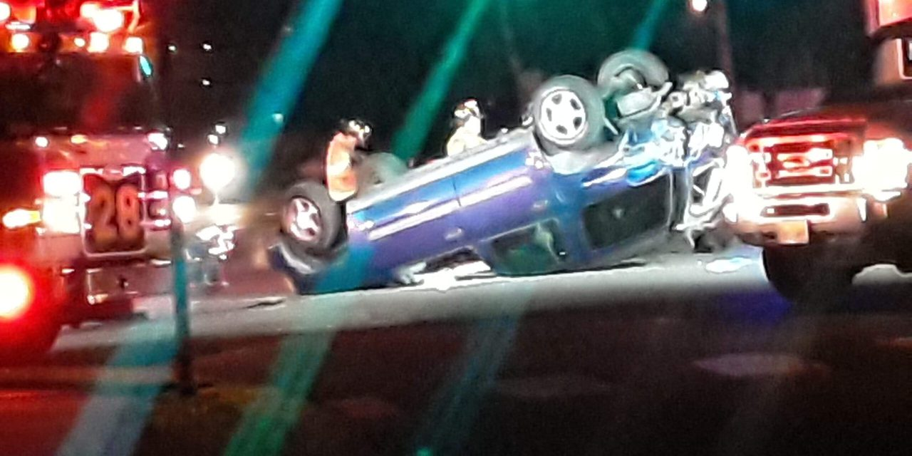 Toms River: MVA reported with Overturned Vehicle