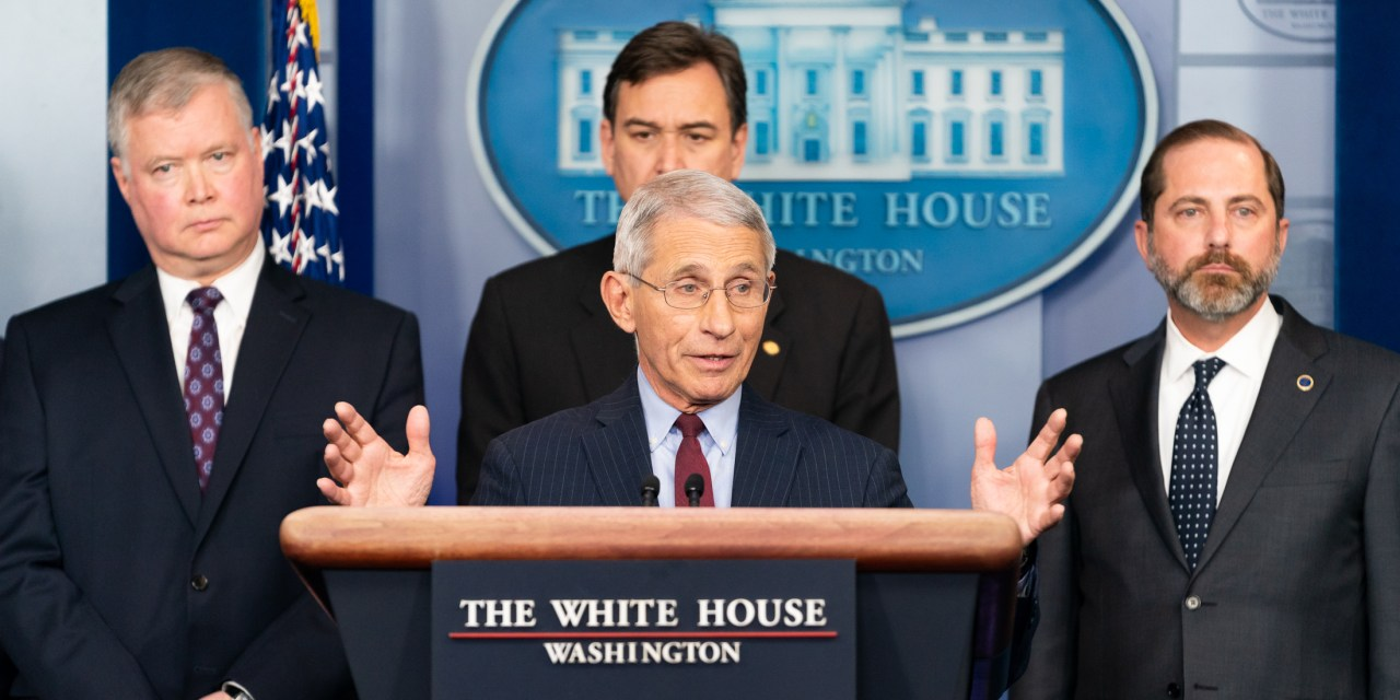 "FAUCI: ""We see 'glimmers' that social distancing is working"""