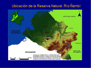Figure 1. Location of Natural Reserve Ñambi River