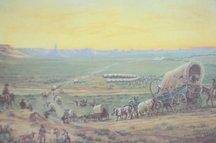 Approaching Chimney Rock: William Henry Jackson print