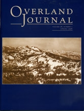Overland Journal Volume 26 Number 1 Spring 2008