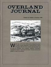 Overland Journal Volume 16 Number 2 Summer 1998