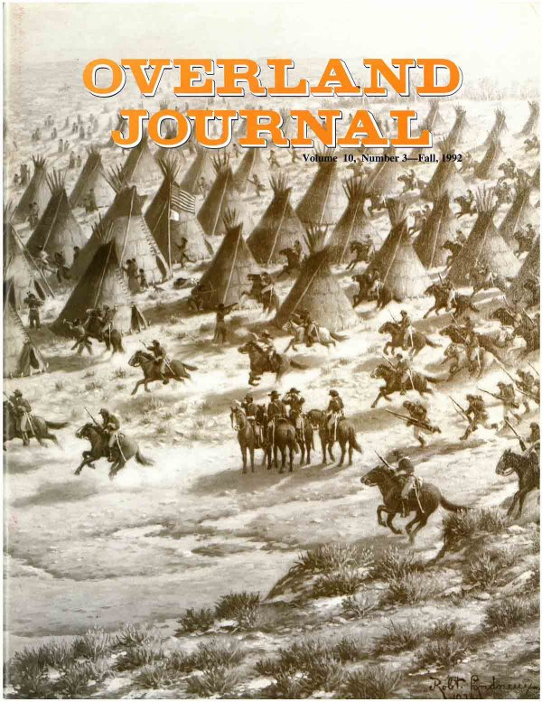Overland Journal Volume 10 Number 3 Fall 1992