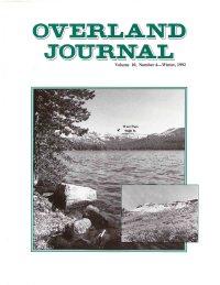 Overland Journal Volume 10 Number 4 Winter 1992