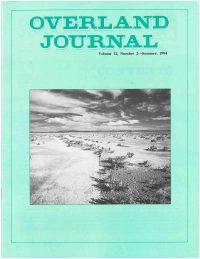 Overland Journal Volume 12 Number 2 Summer 1994