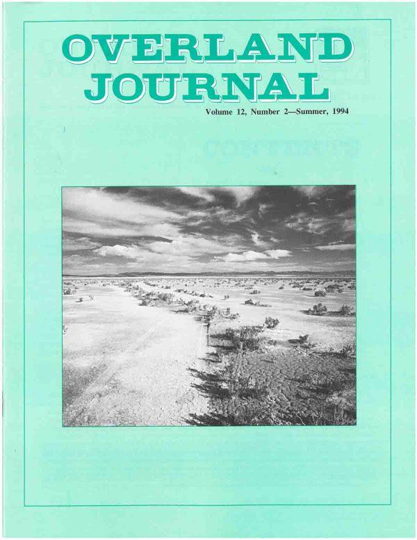 Overland Journal Volume 12 Number 2 Summer 1994