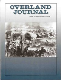 Overland Journal Volume 13 Number 4 Winter 1995-1996