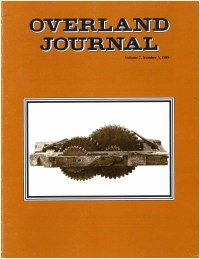 Overland Journal Volume 7 Number 3 1989