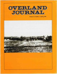 Overland Journal Volume 14 Number 1 Spring 1996