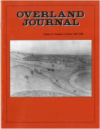 Overland Journal Volume 15 Number 4 Winter 1997-1998