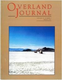 Overland Journal Volume 19 Number 1 Spring 2001
